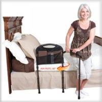 Stander Mobility Bed Rail and Pouch. Click for more information...