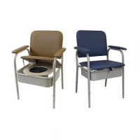 Deluxe Bedside Commode - Hinged Seat. Click for more information...